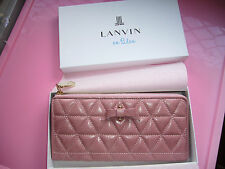 BRAND NEW LANVIN PINK BOW WALLET