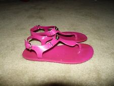Women's Michael Kors Fuschia Jelly Plastic Sandals Size 6M