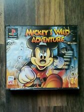 MICKEY'S WILD ADVENTURE  - Playstation PS1 Game - Big Box With Manual & Music CD