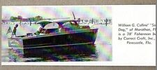 1953 Magazine Photo Correct Craft 28' Fisherman Boat Pinecastle,FL