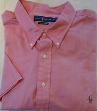 NWT Ralph Lauren RED, BLUE, WHITE, GREEN Chambray Oxford SS Shirt Big & Tall