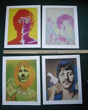 """Beatles Psychedelic Heavy Stock Posters Richard Avedon 4 Posters 15"""" x 12"""""""