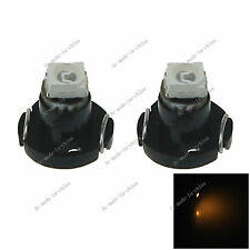 2x Yellow Neo Wedge 1 SMD 1210 LED Car Bulbs T3 HVAC Climate Control Lights N001