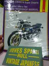 HONDA CB250/400N SUPER DREAMS  ,HAYNES WORKSHOP MANUAL .