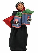 2015 Byers Choice Salvation Army Lady Woman Holding Shopping Bags New Design