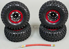 AIR System TRUCK 2.2 Inflatable TIRES BEADLOCK Rock Crawler TIRES + RIMS (4) RED
