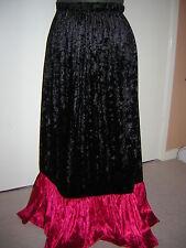 red black crush velvet skirt custom  8 10 12 14 16 18 20 22 24 26 28 30 32 34 36