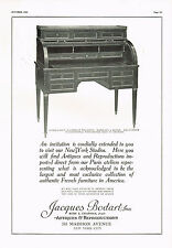 1920's BIG VINTAGE Jacques Bodart New York Antique Furniture Photo Print AD