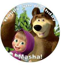 "Masha And The Bear Personalised Cake Topper 7.5"" Edible Wafer Paper"
