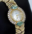 Rolex Cellini 2712 18K Yellow Gold Factory Diamond Bezel MOP Dial Ladies Watch