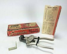 Vintage SPEEDEX Wire & Cable Stripper Original Box 766-1 Made in USA Electrician
