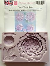 Karen Davies Peony Flower Bud & Leaf Sugarcraft Mould NEXT DAY DESPATCH