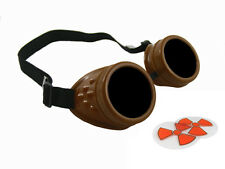CHOCOLATE BROWN CYBER GOGGLES STEAMPUNK WELDING GOTH COSPLAY