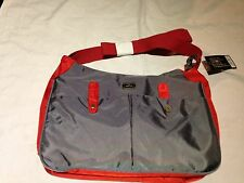 NEW GENUINE Caboodle Everyday Baby Changing Bag Insulated Pouch Grey with Red