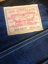 levi strauss vintage LVC 505-0217 1967 jeans double big E tab selvedge 34x34 NEW