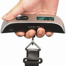 50 kg / 110 lb Electronic Digital Portable Luggage Hanging Weight Scale New FUS