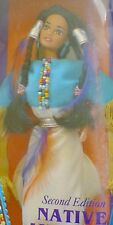 NATIVE AMERICAN BARBIE DOLLS OF THE WORLD DOTW 1993 sqwa INDIANERIN #11609  NRFB