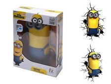 3D FX Deco LED Night Light Despicable Me 2 Minions Kevin Wandlampe Nachtleuchten