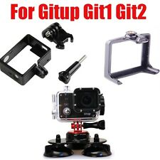 Triple Suction Cup Car Windscreen Dash Mount+Protetive Frame for Gitup Git1 Git2