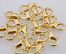20pcs Lobster Claw Clasp Golden Plated Metal  6x10mm Jewelry Findings DIY