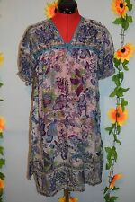 vintage 90s indian semi sheer gauze dress blue festival