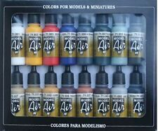 AIRBRUSH PAINTS - VALLEJO MODEL AIR BASIC COLOR KIT - 16 x 17ml BOTTLES