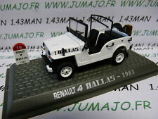 Voiture 1/43 NOREV Renault R 4 L : Dallas jeep 1983