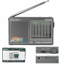 DEGEN DE1103 DSP Radio FM SW MW LW SSB Digital World Receiver with Enlish Manual