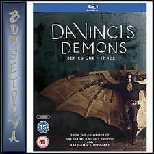 DA VINCI'S DEMONS - COMPLETE SERIES 1 2 & 3 *BRAND NEW BLURAY **