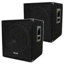 "Evolution Audio EL-SUB 18A Active Powered 18"" Subwoofers Sub Bass Bin 2000W PA"
