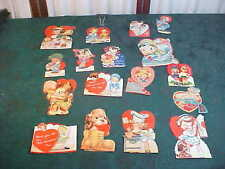 17 Vintage 1930/40's Colorful Valentine's Cards w/Moving Parts-Free Shipping-2