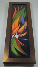 A MOORCROFT Paradise Found Large Copper Lustre Framed Wall Plaque Lovatt PLQ4