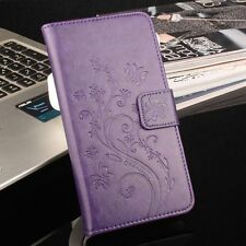 PU Leather Print Flower Card Slot Flip Case Cover For Vernee Thor Phone