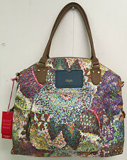 Oilily Bag Pastel Carry All Handbag Purse Multicolor Tote New With Tags
