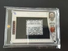 1/1 LEBRON JAMES SNEAK PEEK Game-Used Shoe TAG 2014/15 Immaculate