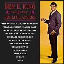 BEN E KING ~ Sings For Soulful Lovers NEW CD MOON RIVER,FEVER,DREAM LOVER + MORE