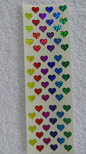 "Sandylion MINI HEARTS PRISMATIC RETIRED 1/4"" Stickers OUT OF PRINT"