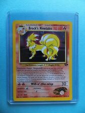 BROCK'S NINETALES 3/132 Gym Heroes Set RARE HOLO SHINY P3 Pokemon Trading Card