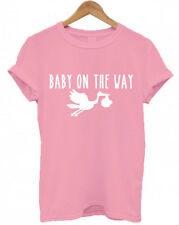 BABY ON THE WAY, Stork, Maternity, mother, mummy, mum, gift present T Shirt, Top