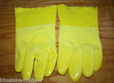 Heavy Duty Yellow Rubber Gloves 75% PVC Textured Grip   Cleaning