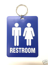 Restroom Toilet Key Tag LARGE for Office Gas Stations Retail Stores Heavy Duty !