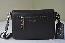 Marc Jacobs Black Pebble Leather Gotham Shoulder Bag Crossbody Messenger