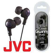 JVC Gumy Gummy Plus HA-FX5 In-Ear Canal Earbuds Headphones Earphones Olive Black