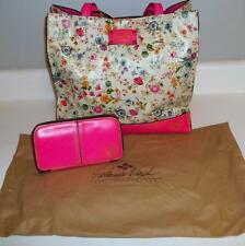 Patricia Nash Gorgeous Pink Floral Leather Shopper Tote Bag w/ Matching Wallet
