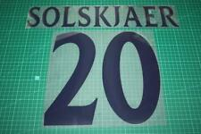 Manchester United 99/00 #20 SOLSKJAER UEFA Chaimpons League Awaykit Nameset
