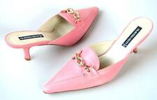 new CLAUDIA CIUTI Nadia pink leather gold chain mules shoes Italy 8 -really cute