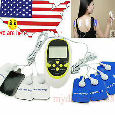 USA Therapy Machine Pulse Acupuncture Massager W 8 Pads Body Electrode Cable