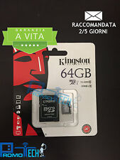 MICRO SDHC KINGSTON MICROSD CLASSE 10 (SDCX10/64GB) 64GB C10 CON ADATTATORE SD