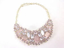 """AMAZON COLLECTION CAVIAR AND STONE STATEMENT SHINY GOLD AND PEACH NECKLACE 17"""""""