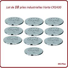 10 piles boutons CR2430 lithium Varta Industrielle, livraison rapide et gratuite